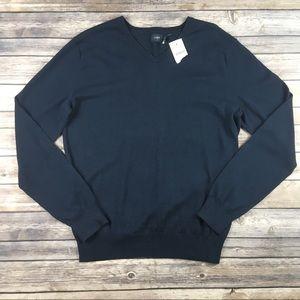 J. Crew Harbor Cotton V-Neck Sweater, NWT, size M.